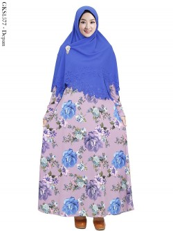 GKS1577 Gamis JUMBO Syari Misby Hijab Syiria Press