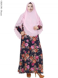 GKS1586 Gamis Syar'i Misby Hijab Pet Bubble Press