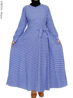 GM1956 Gamis Katun Umbrella Polka