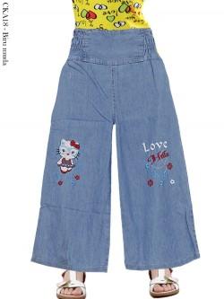 CKA18 Celana Kulot Jeans Anak Bordir