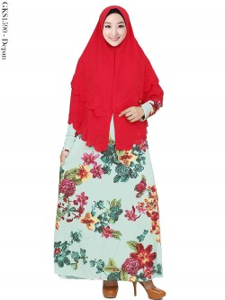 GKS1590 Gamis Jumbo Misby Hijab Bubble 2 Susun