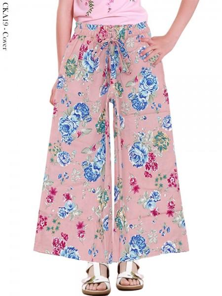 CKA19 Celana Kulot Anak Katun Linen