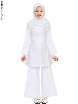 BMC1614 Baju Anak Setelan Celana Putih