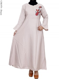 GM1970 Gamis Katun Ballotelly Bordir
