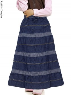 RA189 Rok Jeans Anak Tanggung List Salur