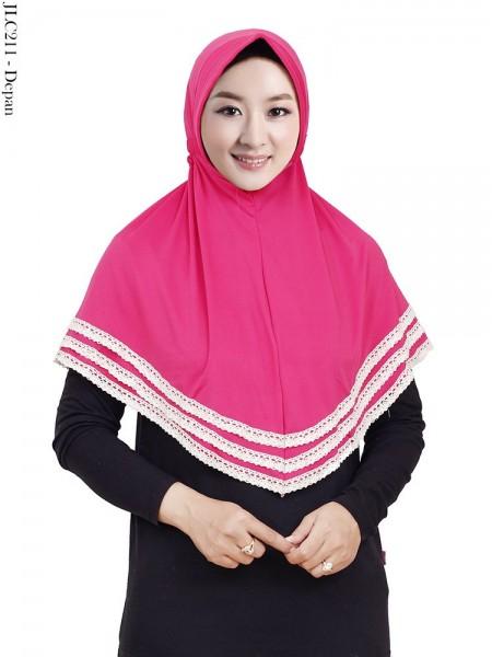 JLC211 Jilbab Tali Serut Jersey List 3 Renda