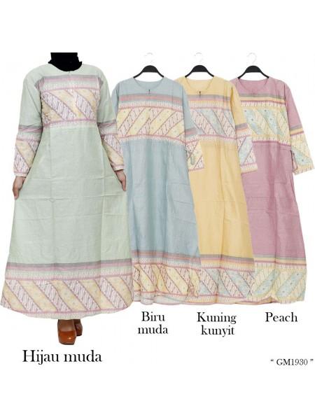 GM1930 Gamis Katun Batik Songket