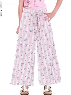 CKA21 Celana Kulot Anak Katun Linen Hellokitty