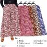 CK355 Celana Kulot Jumbo Katun Linen bunga
