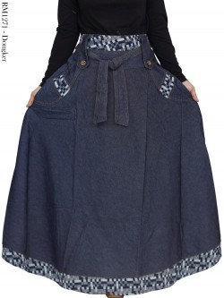 RM1271 Rok Jeans Jumbo Payung List Songket