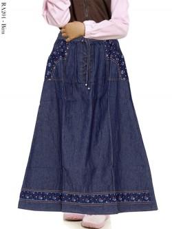 RA201 Rok Jeans Anak List Bunga