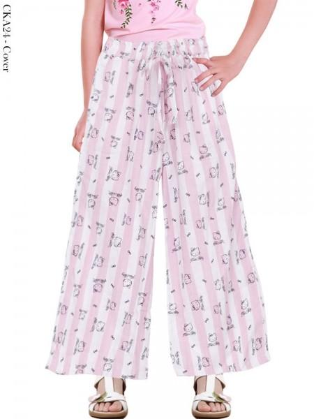 CKA24 Celana Kulot Anak Katun Linen Hellokitty
