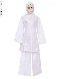 BMC1618 (7-12) Baju Anak Setelan Celana Putih