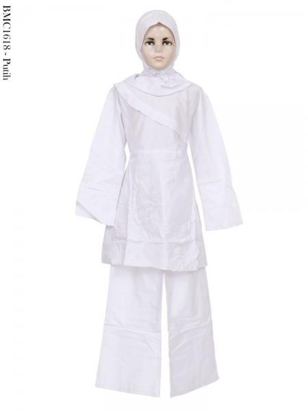 BMC1618 Baju Anak Setelan Celana Putih