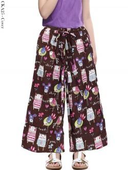 CKA25 Celana Kulot Anak Katun Linen