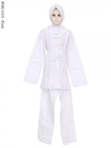 BMC1619 Baju Anak Tanggung Setelan Celana Putih