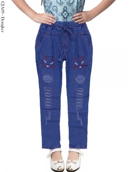 CJA09 Celana Jeans Anak Bordir
