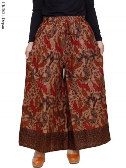 CK363 Celana Kulot Jumbo Katun Batik