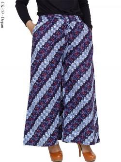 CK369 Celana Kulot Jumbo Linen Batik