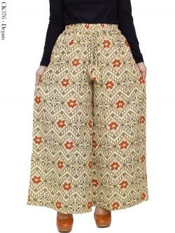 CK376 Celana Kulot Jumbo Katun Linen Batik