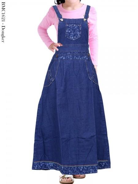 BMC1621 Overall Jeans Anak Tanggung