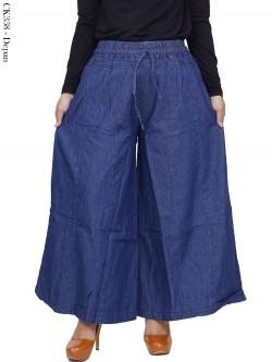 CK358 Celana Kulot Rok Jeans Pecah 6