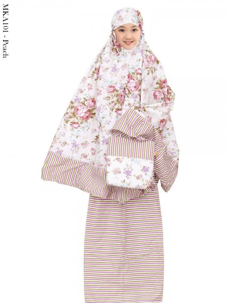 MKA101 Mukena Anak Katun Jepang Batik