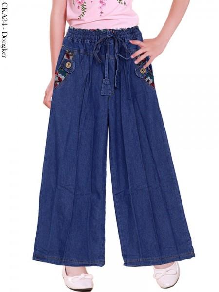 CKA34 Celana Kulot Jeans Anak Tanggung