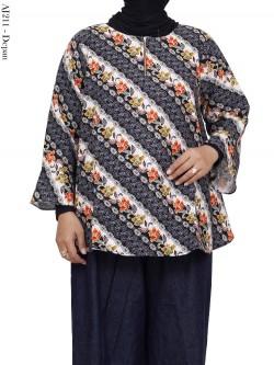 AJ211 Atasan Jumbo Katun Rami Batik