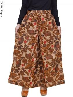 CK381 Celana Kulot Jumbo Katun Batik