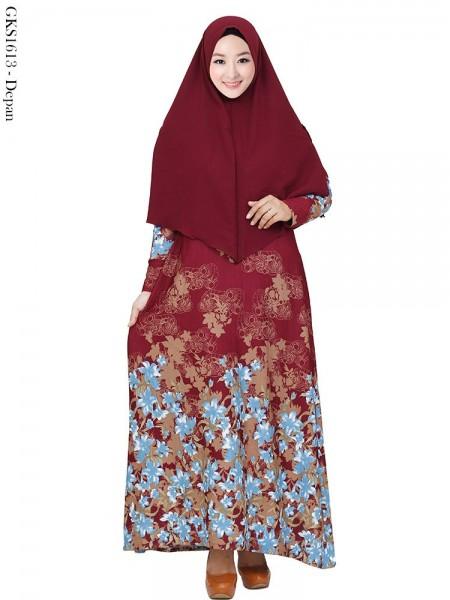 GKS1613 Gamis Syar'i Waffel Batik