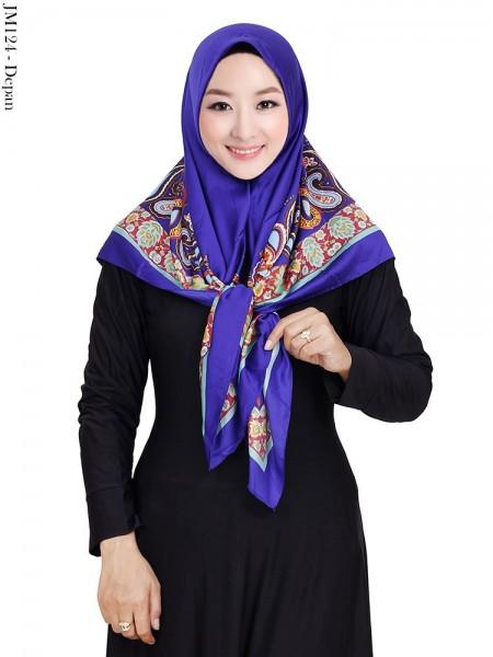 JM124 Jilbab Segi4 Satin Velvet Lamiz