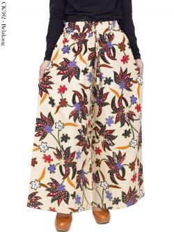 CK382 Celana Kulot Jumbo Katun Linen Batik