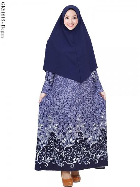 GKS1615 Gamis Syar'i Waffel Batik