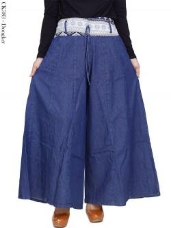 CK383 Celana Kulot Jeans Pecah 6