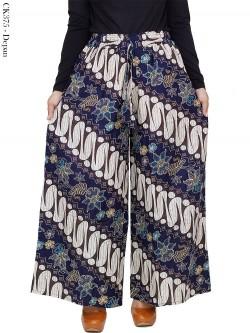 CK375 Celana Kulot Jumbo Katun Linen Batik