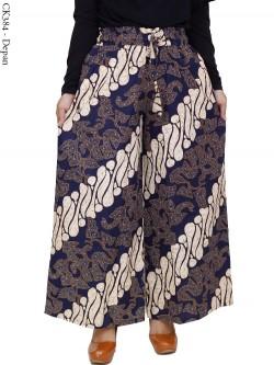CK384 Celana Kulot Jumbo Katun Linen Batik