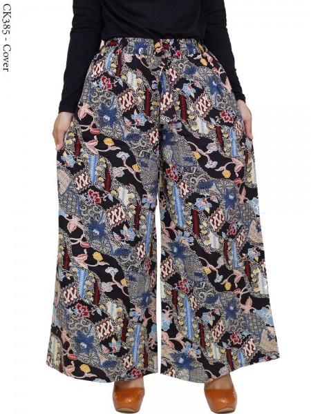 CK385 Celana Kulot Jumbo Katun Batik