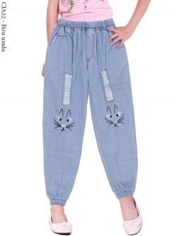 CJA22 Celana Jogger Jeans Anak Bordir