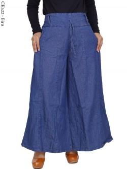CK322 Celana Kulot Rok Jeans Pecah 6