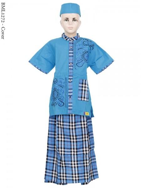 BML1272 (7-12) Baju Koko Anak Celana Sarung