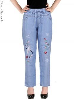 CA421 Celana Jeans Remaja/ABG Dewasa Bordir