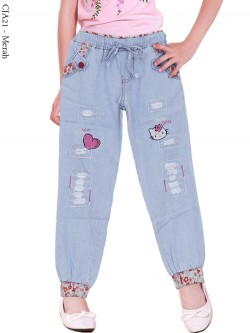 CJA21 Celana Jeans Anak Bordir