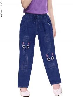CJA19 Celana Jeans Anak Bordir