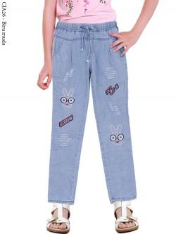 CJA26 Celana Jeans Anak Bordir Rabbit
