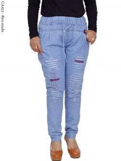 CA423 Celana Jeans Remaja/ABG Dewasa Bordir