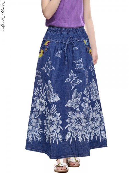 RA235 Rok Jeans Anak Tanggung 6-10th