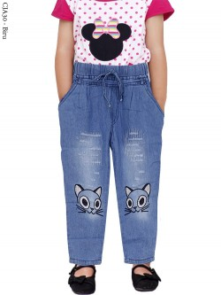 CJA30 Celana Jeans Anak Bordir 3-10th