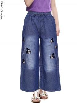 CKA38 Celana Kulot Jeans Anak Bordir