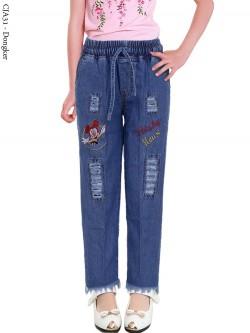 CJA31 Celana Jeans Anak Bordir Rawis